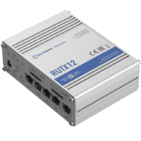 RUTX12 Ipari Mobilnet Router 4G DUAL LTE CAT6  WIFI & BT-LE & GNSS & 5xGigabit ETH