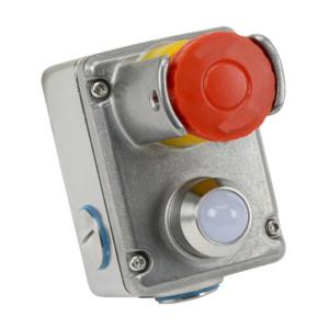 ESL-SS(LP) Vész Stop Kapcsoló 2NC + 2NO,  Rozsdamentes Acél, LED 230Vac, Lakatolható