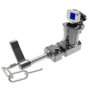 M-HS-C karos egykulcsos retesz - csapdázott kulcs lánccal (Mirror Polished Fém)
