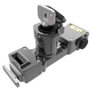 M-TS-CB-31-M csapdázott kulcsos nyelves egykulcsos retesz 3NC 1NO kontakt blokokkal (M20) - (Mirror Polished Fém)
