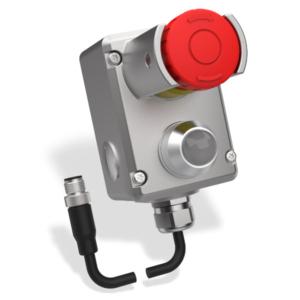 ESL(LP)-SS-Z Vész Stop Kapcsoló 2 OSSD és 1 Kiegészítő Kimenettel  M12-QC 8-Pole 250mm