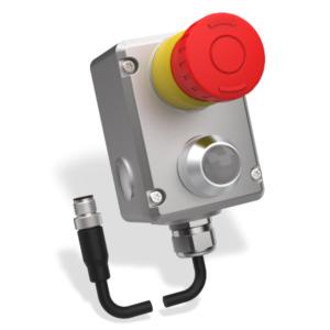 ESL(L)-SS-Z Vész Stop Kapcsoló 2 OSSD és 1 Kiegészítő Kimenettel  M12-QC 8-Pole 250mm