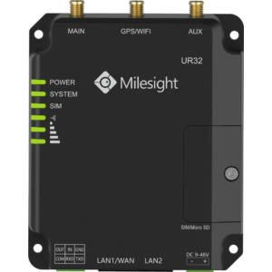 Milesight LTE Router 4G DUAL SIM WIFI  2xLAN PoE RS232