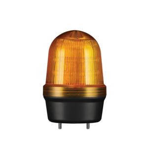 MFL60 LED Multifunkciós fényjelző és hangjelző, állandó/villogó/stroboszkóp/forgó fény narancssárga DC12-24V, IP65