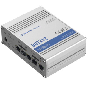 Teltonika RUTX12 Ipari Mobilnet Router 4G DUAL LTE CAT6  WIFI & BT-LE & GNSS & 5xGigabit ETH