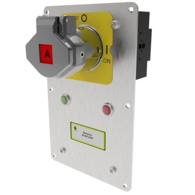 M-ISP-SKR-40 egykulcsos beépíthető vezérlő kapcsoló - elektromágneses feloldás 40A 4P - (Fém)