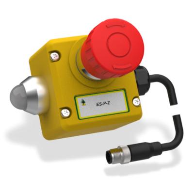 ES-P-Z Vész Stop Kapcsoló 2 OSSD és 1 Kiegészítő Kimenettel  M12-QC 8-Pole 250mm