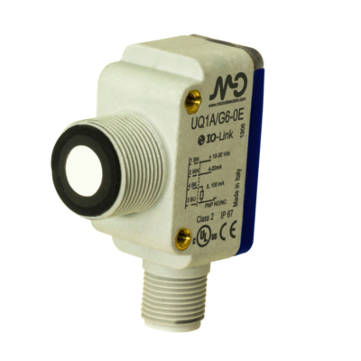UQ1C Ultrahangos érzékelő, PNP  + 4...20 mA kimenet, Sn:60...800mm