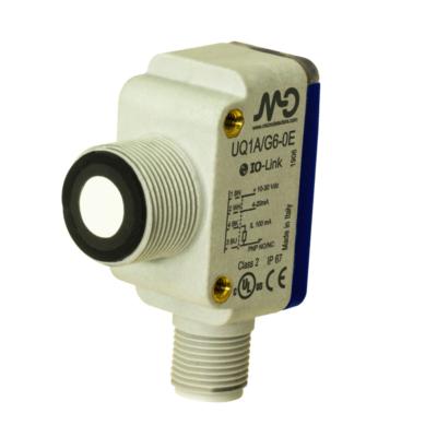 UQ1C Ultrahangos érzékelő, PNP  + 4...20 mA kimenet, Sn:80...1200mm
