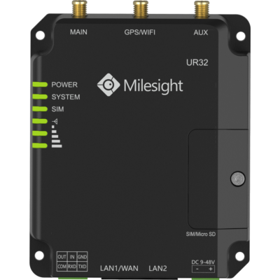 Milesight LTE Router 4G DUAL SIM 2xLAN RS232
