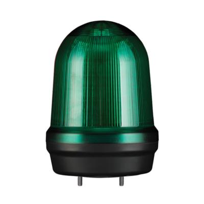 MFL125 LED Multifunkciós fényjelző és hangjelző, állandó/villogó/stroboszkóp/forgó fény zöld DC12-24V, IP65