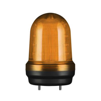 Q80L LED Fényjelző, állandó/villogó narancssárga DC12-24V, IP65