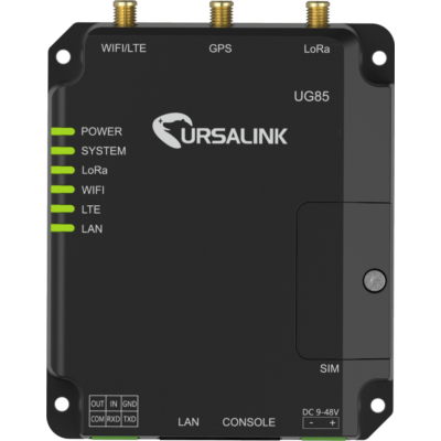UG85 Ipari beltéri LoRaWAN® Gateway DUAL SIM 4G