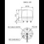 Kép 2/3 - QMCL125 LED Többszínű fényjelző IP65